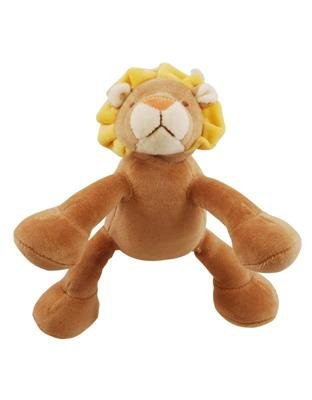 """Simply Fido Simply Fido Leo 6"""" Petite Brown Lion With Squeaker"""
