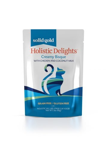 Solid Gold Solid Gold Grain Free Holistic Delights Creamy Cat Food Pouches - Chicken & Coconut Milk