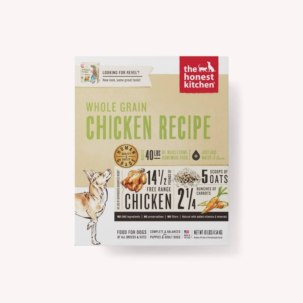 The Honest Kitchen The Honest Kitchen Chicken (Revel) Recipe All Life Stages Dehydrated Dog Food, 4 lb box