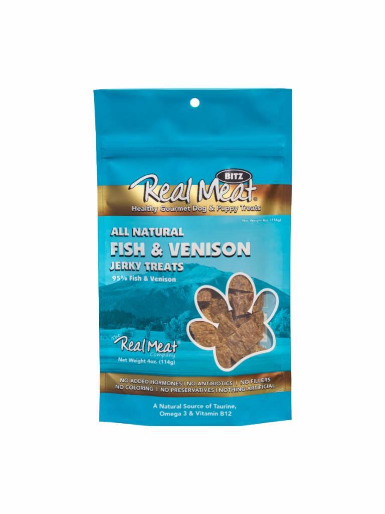The Real Meat Company The Real Meat Company Fish & Venison Jerky Bitz, 4 oz bag