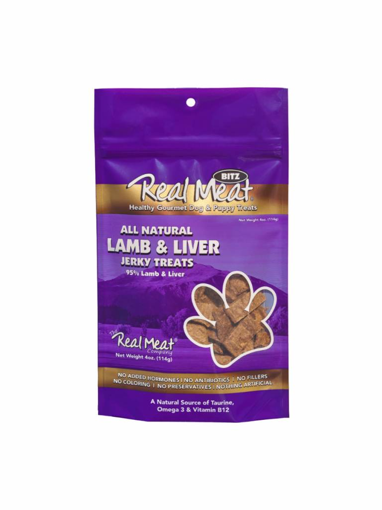 The Real Meat Company The Real Meat Company Lamb & Liver Jerky Bitz, 4 oz bag
