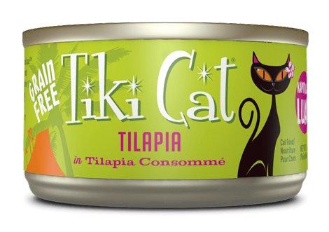 Tiki Tiki Cat Tilapia Kapi'Olani Luau, 6 oz can