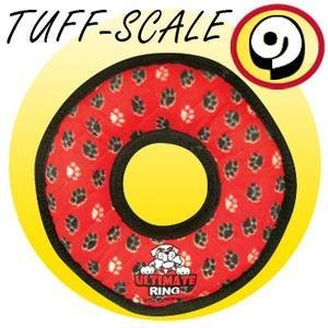 Tuffy Tuffy Large Ring Red Paw Product Image
