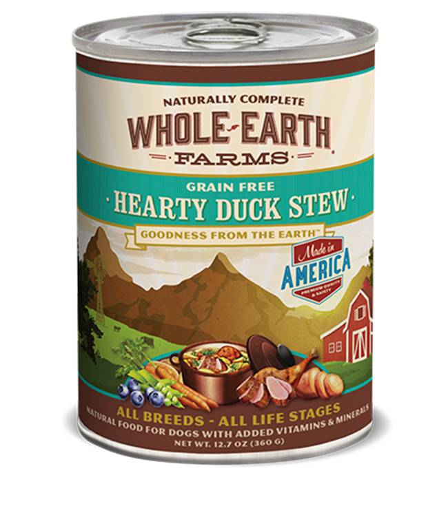 Whole Earth Farms Whole Earth Farms Hearty Duck Stew Dog Food, 12.7 oz can