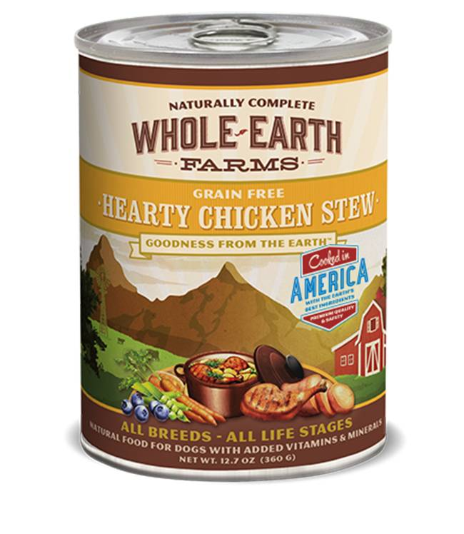 Whole Earth Farms Whole Earth Farms Hearty Chicken Stew Dog Food, 12.7 oz can