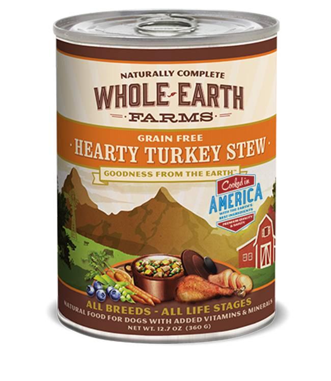 Whole Earth Farms Whole Earth Farms Hearty Turkey Stew Dog Food, 12.7 oz can