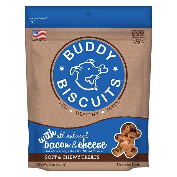 Cloud Star Cloud Star Buddy Biscuits with Bacon & Cheese Soft & Chewy Dog Treat, 6 oz bag