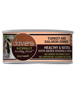Dave's Dave's Turkey and Salmon Dinner Cat Can Food, 5.5 oz can