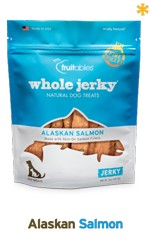 Fruitables Fruitables Whole Jerky Alaskan Salmon Strips Dog Treats, 5 oz bag