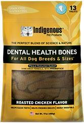 Indigenous Indigenous Dental Health Bones - Roasted Chicken, 17 oz bag