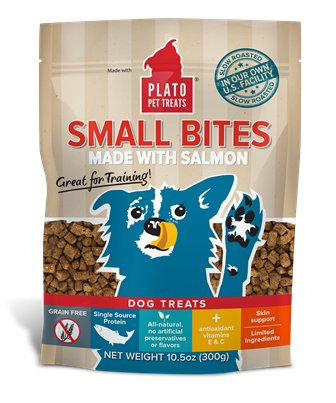 Plato Plato Small Bites Salmon Recipe Dog Treats, 10.5 oz bag