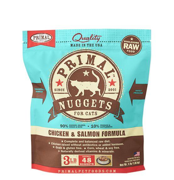 Primal Primal Frozen Cat Food, Chicken & Salmon, 3 lb bag