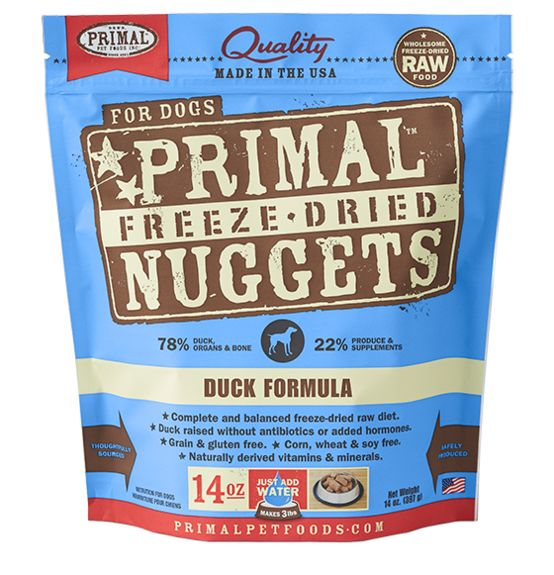 Primal Primal Freeze Dried Dog Food, Duck, 14 oz bag