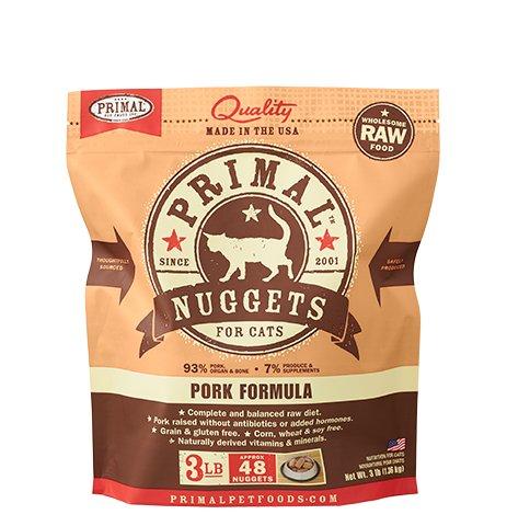 Primal Primal Frozen Cat Food, Pork, 3 lb bag