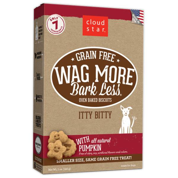 Cloud Star Cloud Star Wag More Bark Less Itty Bitty Biscuits with Pumpkin, 7 oz box