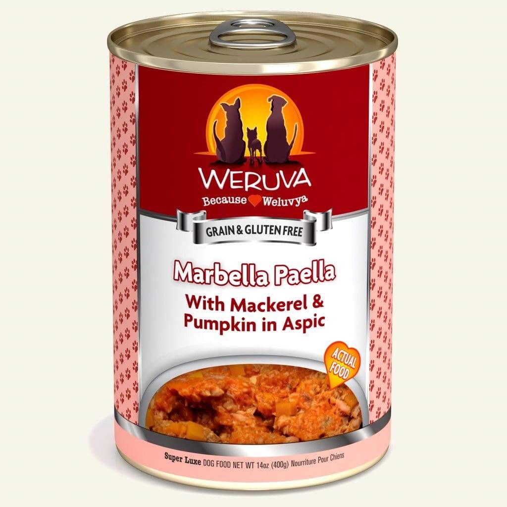 Weruva Weruva Dog Marbella Paella with Mackerel & Pumpkin, 14 oz can Product Image