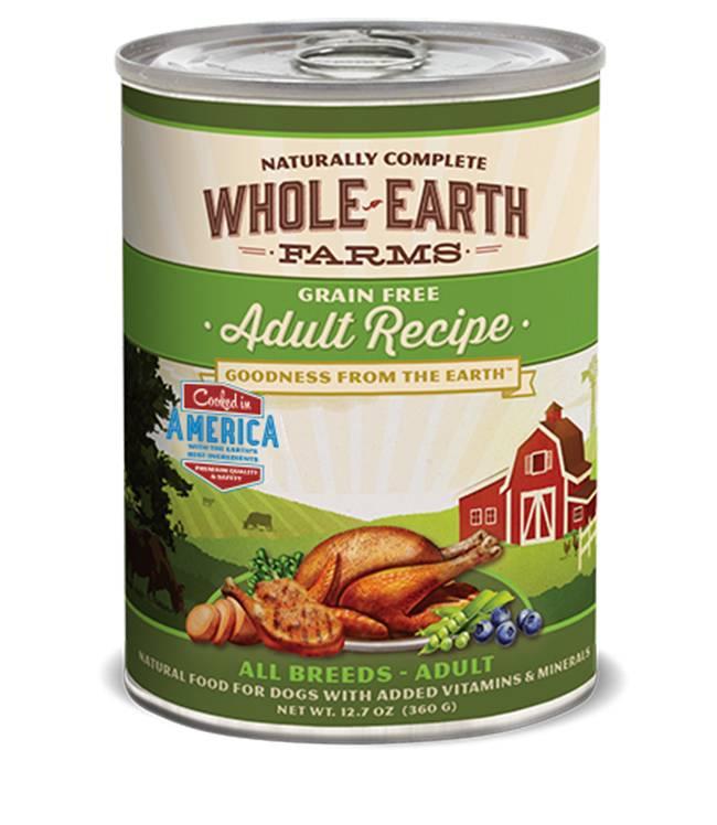 Whole Earth Farms Whole Earth Farms Adult Recipe Dog Food, 12.7 oz can