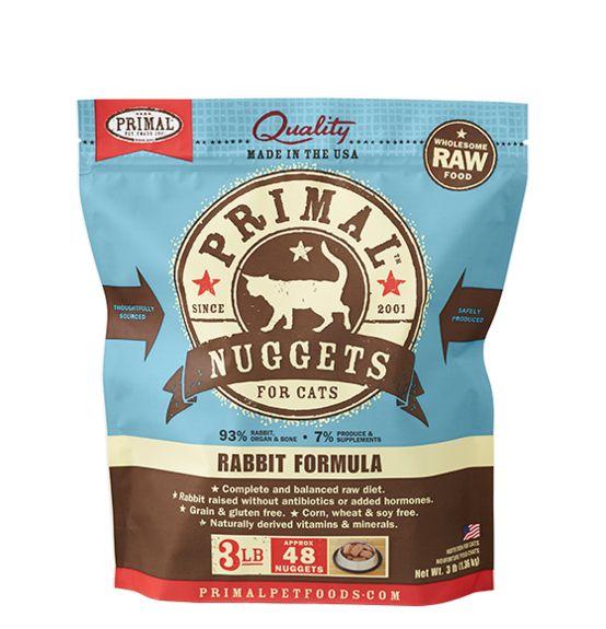 Primal Primal Frozen Cat Food, Rabbit,  3 lb bag