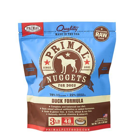 Primal Primal Frozen Dog Food, Duck, 3 lb bag