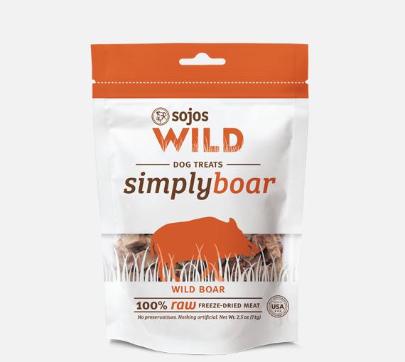 Sojos Sojos Simply Wild Boar Freeze-Dried Dog Treats, 2.5 oz bag Product Image