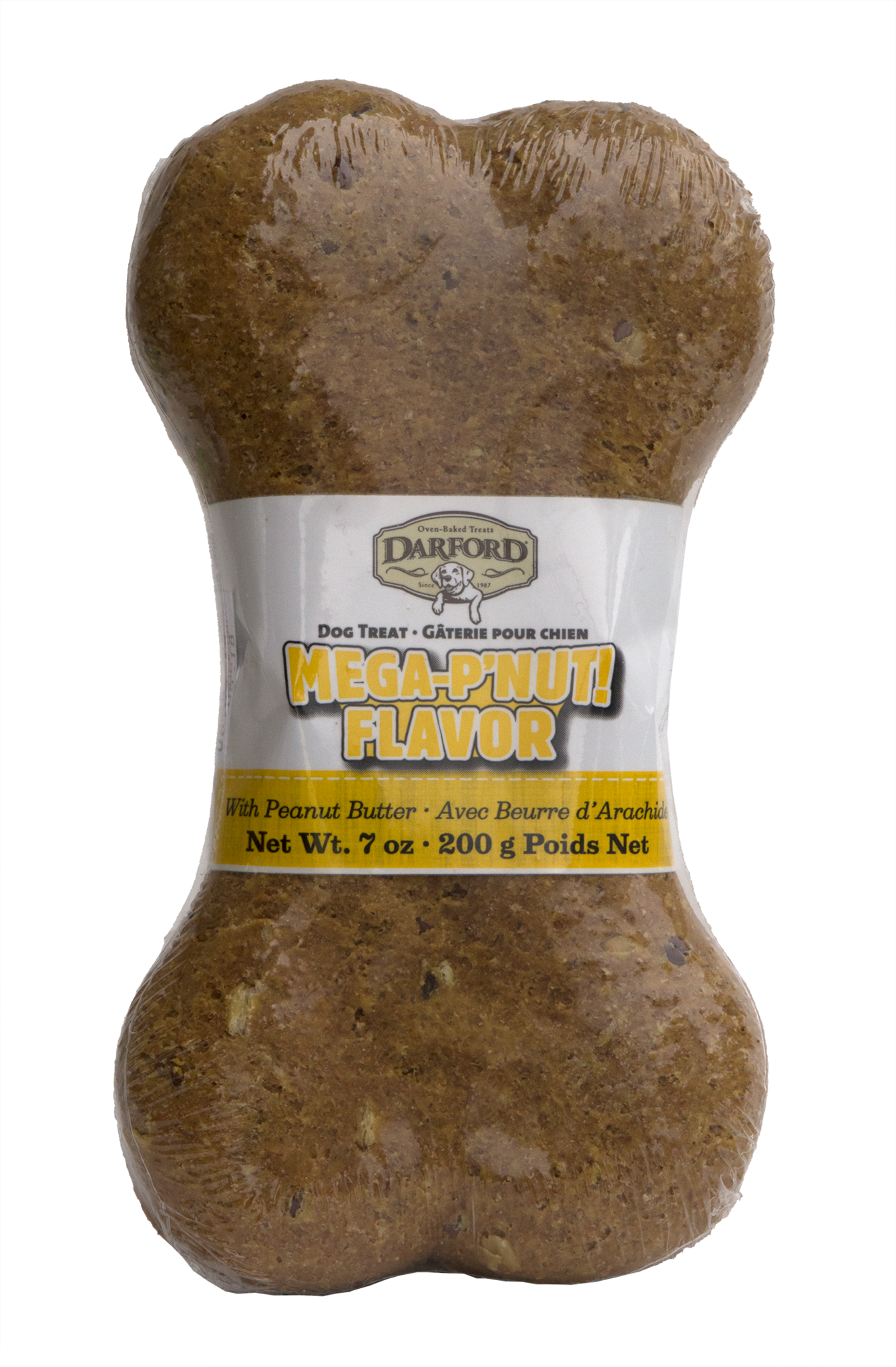 Darford Darford Mega P'nut Bone Dog Treat, 7 oz bone Product Image