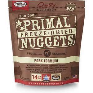 Primal Primal Freeze Dried Dog Food, Pork, 14 oz bag