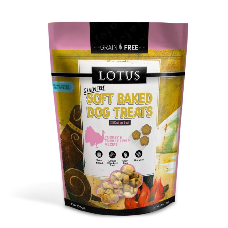 Lotus Lotus Soft Baked Dog Treats, Turkey, 10oz bag Product Image