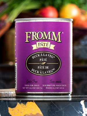 Fromm Fromm Family Foods Duck A La Veg Pate Canned Dog Food, 12.2 oz can