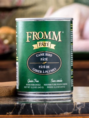 Fromm Fromm Family Foods Game Bird Pate Canned Dog Food, 12.2 oz can