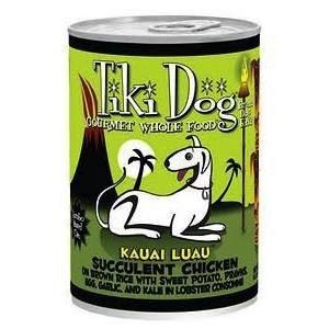 Tiki Tiki Dog Kauai Luau Succulent Chicken Dog Food, 14 oz can