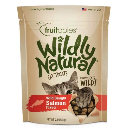 Fruitables Fruitables Wildly Natural Salmon Cat Treats, 2.5 oz bag Product Image