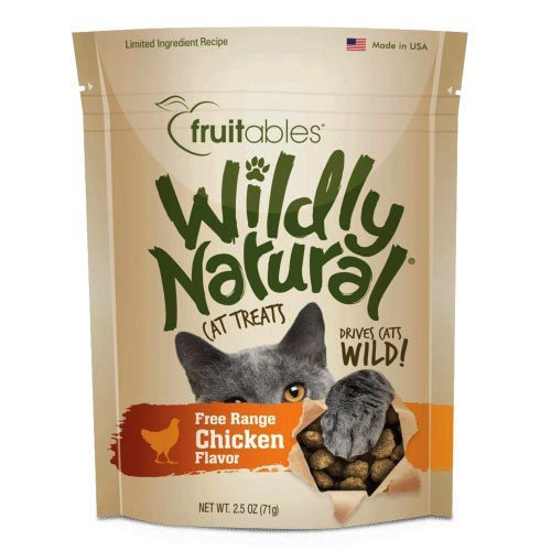 Fruitables Fruitables Wildly Natural Chicken Cat Treats, 2.5 oz bag Product Image