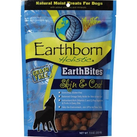 Earthborn Earthborn EarthBites Holistic Grain Free Skin & Coat Treats 7.5 oz