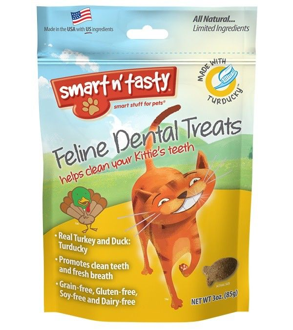 Emerald Pet Emerald Pet Smart N Tasty Feline Dental Treats, Turducky Formula, 3 oz bag Product Image