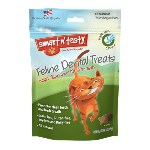 Emerald Pet Emerald Pet Smart N Tasty Feline Dental Treats, Catnip Formula, 3 oz bag Product Image
