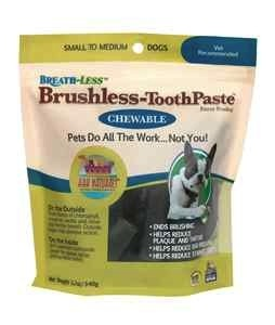 Ark Naturals Ark Naturals Breath-Less Chewable Brushless-Toothpaste S/M, 12 oz bag