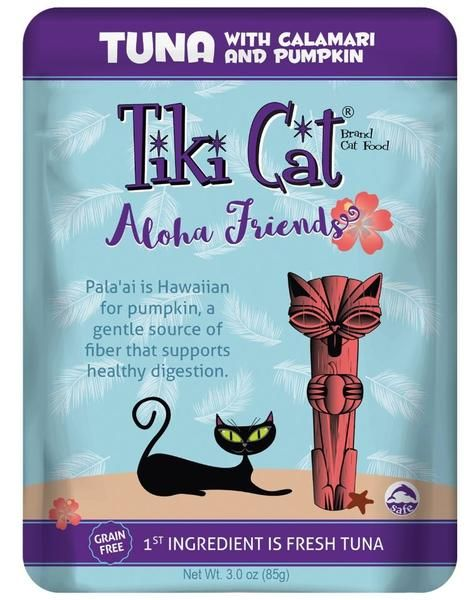 Tiki Tiki Cat Aloha Friends Cat Food Pouch