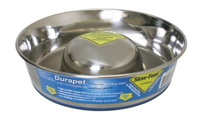 Durapet Durapet Stainless Steel Slow Feed Dish - Medium