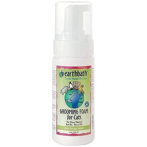 Earth Bath Earthbath Green Tea Grooming Foam for Cats, 4 oz bottle Product Image