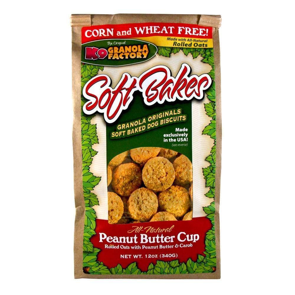 K9 Granola Factory K9 Granola Peanut Butter Cups Soft Bakes, 12 oz bag