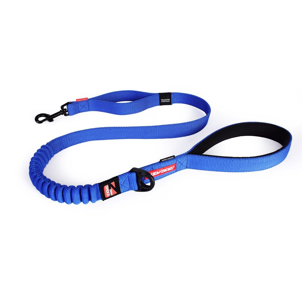 "EzyDog EzyDog Zero Shock 48"" Leash Blue Product Image"