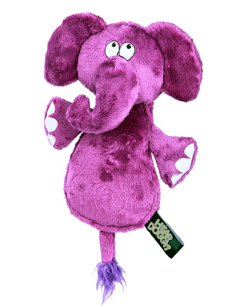 Hear Doggy Hear Doggy Flattie Elephant Dog Toy
