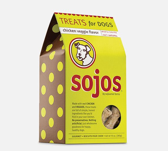 Sojos Sojos Chicken Veggie Flavor Treats, 10 oz box