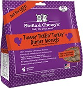 Stella & Chewy Stella & Chewy's Tummy Ticklin' Turkey Freeze-Dried Cat Food, 9 oz bag Product Image