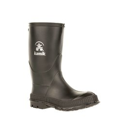 Kamik Black Stomp Style Rubber Rain Boots by Kamik