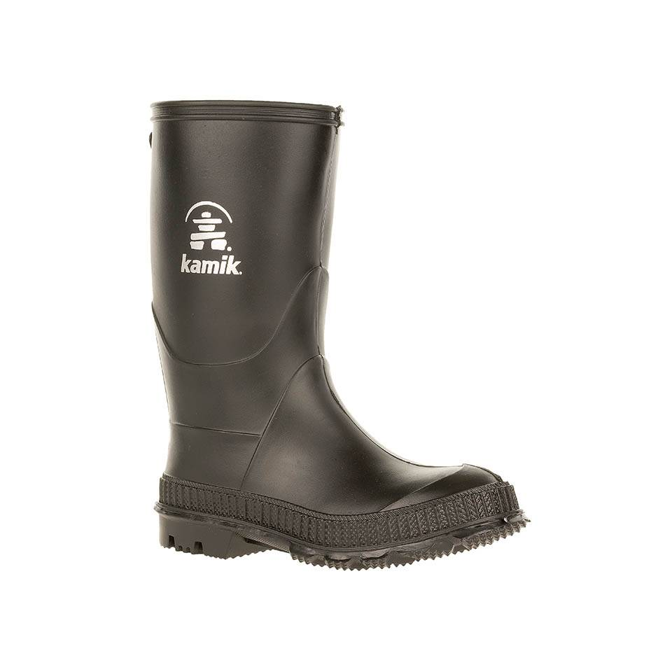 Black Stomp Style Rubber Rain Boots By Kamik In Victoria