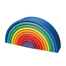 Grimms Rainbow Sunset Wooden Stacking Toy (10 Pieces) by Grimms