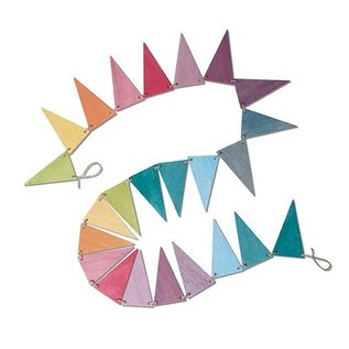 Grimms Wooden Pennant Banner by Grimms