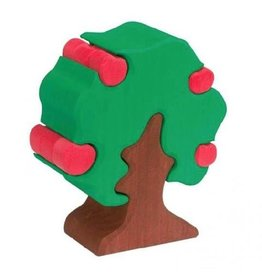 Gluckskafer Wooden Apple Tree with 12 Apples