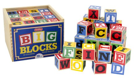Schylling ABC Wooden Blocks (48 Pieces) by Schylling